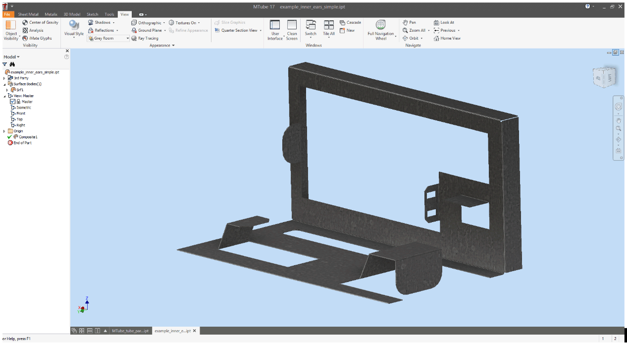 3D Export of Sheet Metal Files from MTube to cncKad and MBend