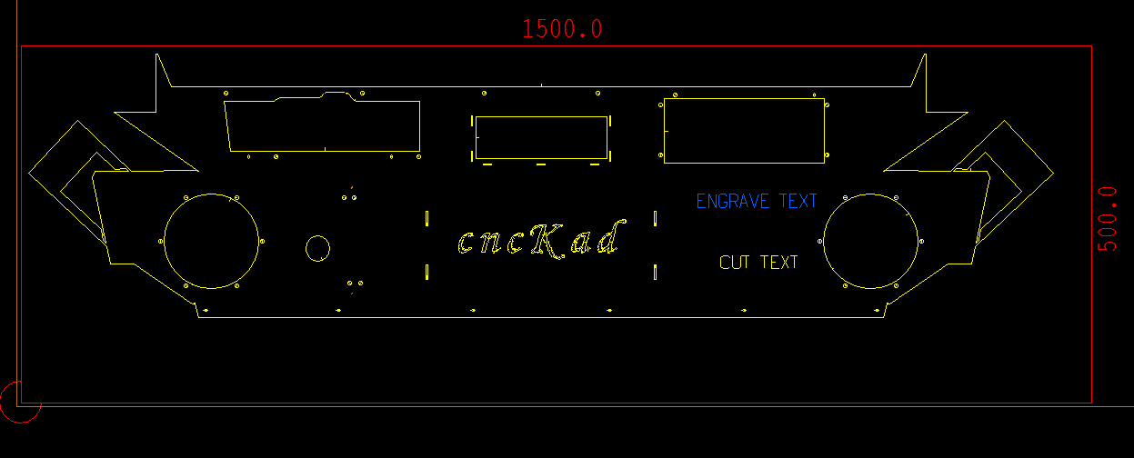 Wycinanie automatyczne: wycinanie i grawerowanie tekstu
