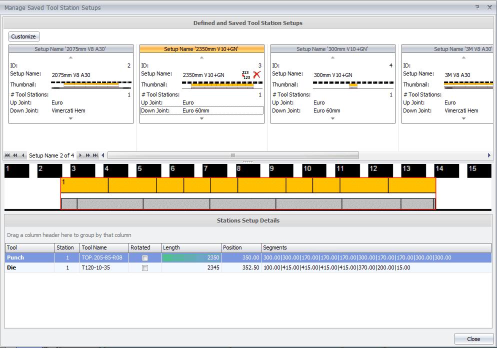 MBend Configurazioni Predefinite