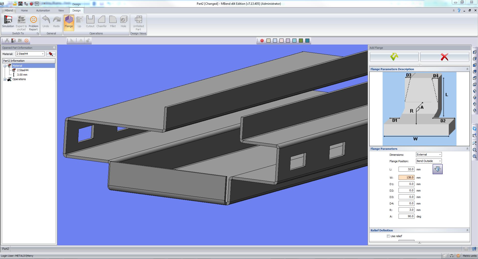 Diseño de piezas: MBend 3D CAD Designer