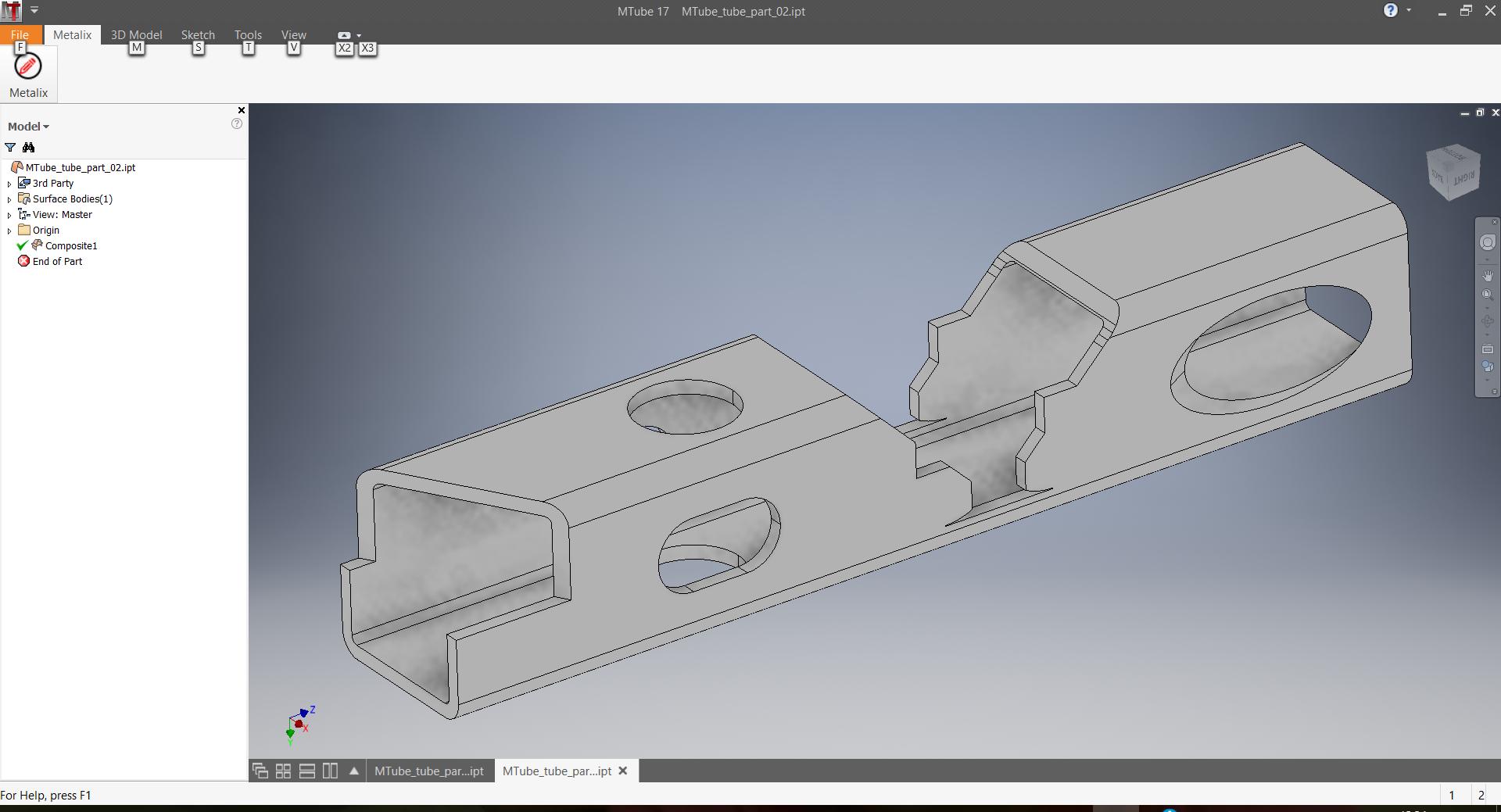 3D-Rohr-Export von MTube nach cncKad