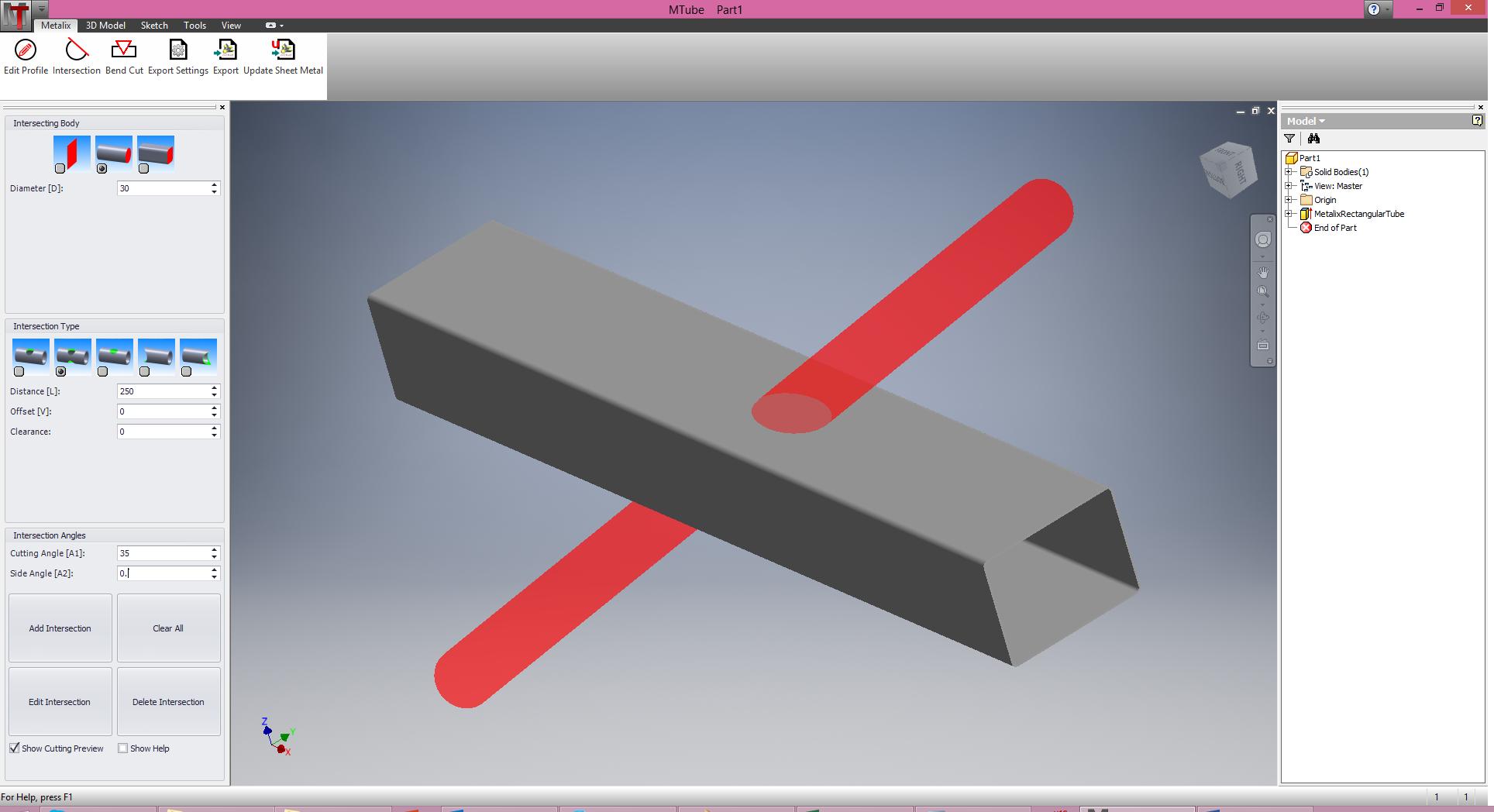 Conception graphique de tubes en 3D avec MTube
