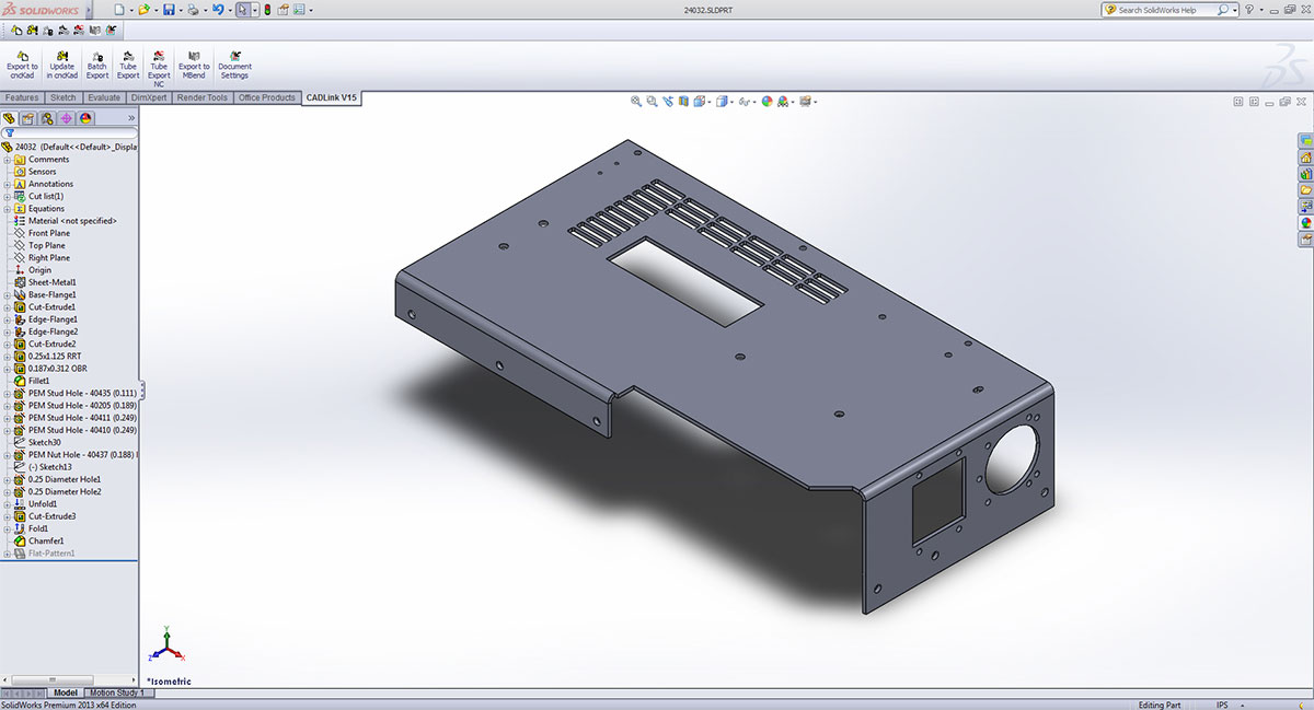 3D CAD Integration: CAD Link, cncKad and MBend