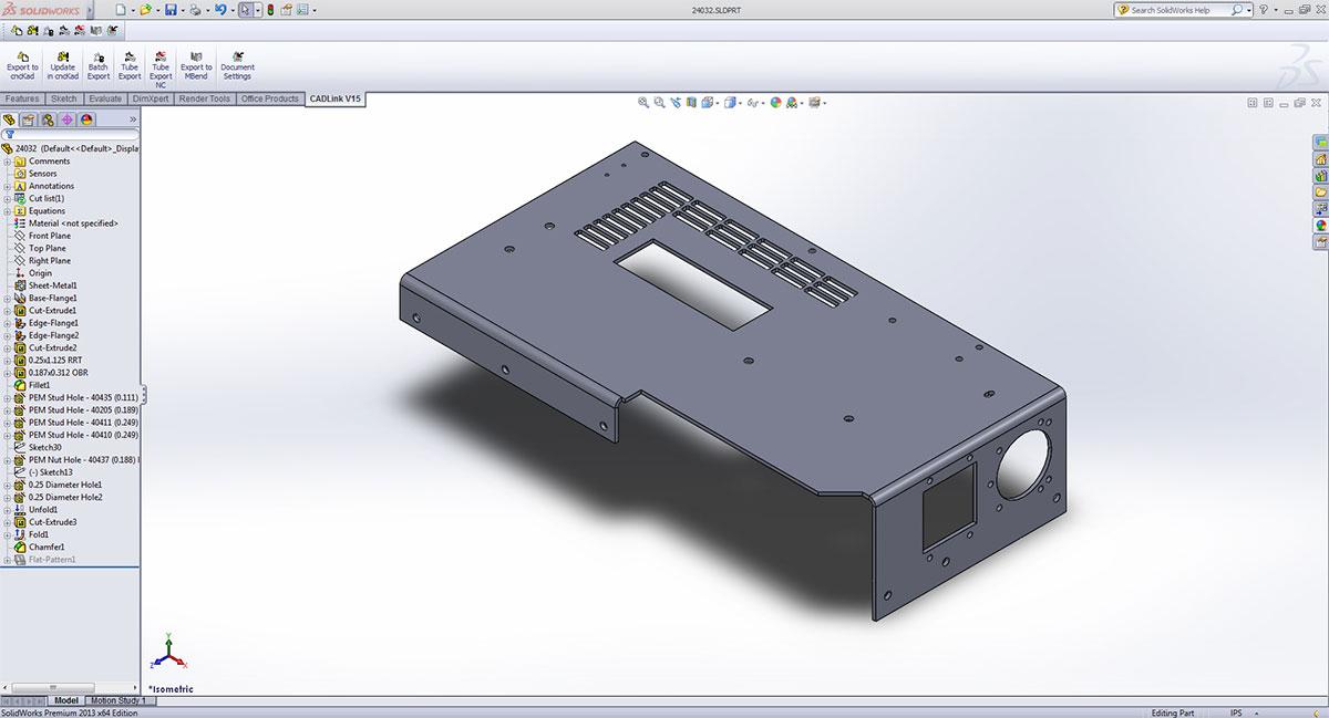 Solution pour l'intégration de votre CAO en 3D pour cncKad/AutoNest et MBend