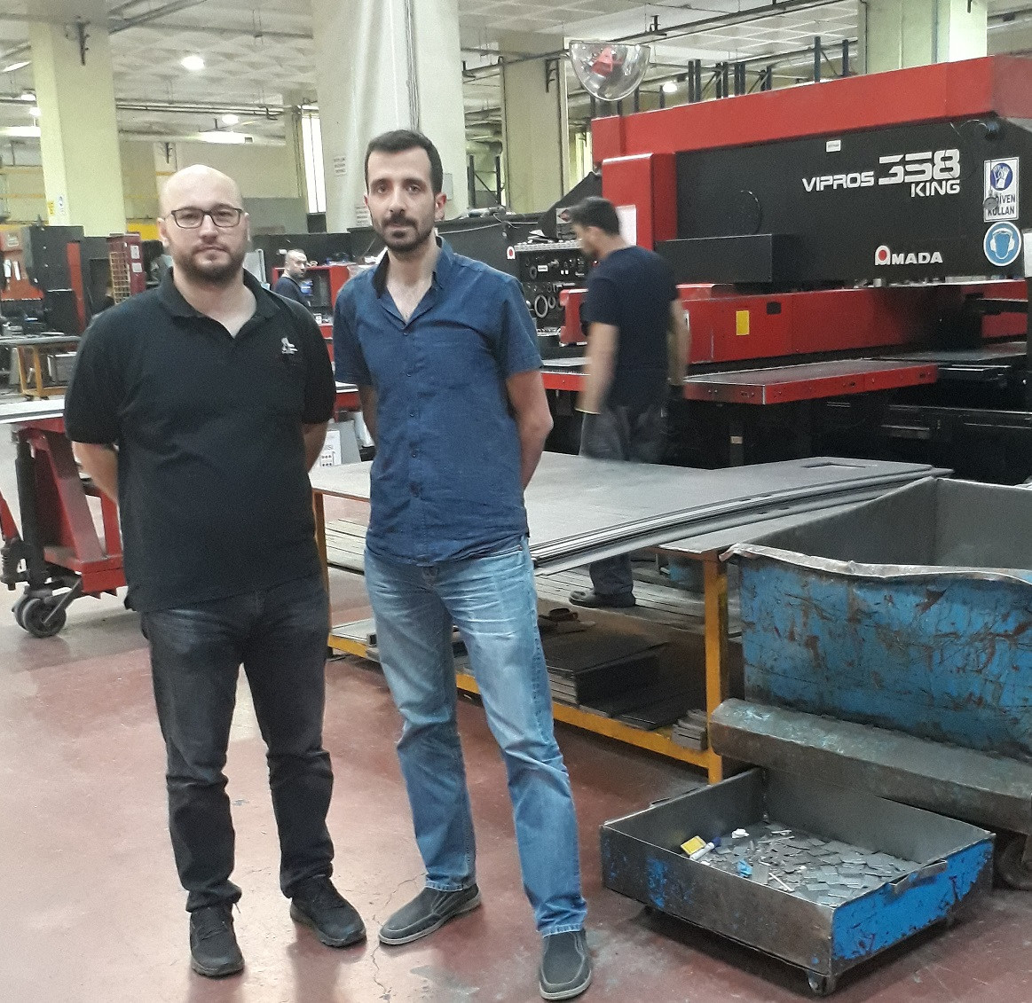 Ömer Altun (Tempa Pano production manager) with Oğuzhan Özdemir (Metalix Turkey)